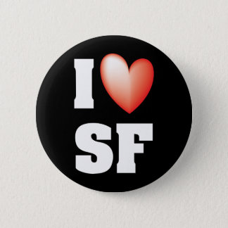 I Liebe San Francisco Runder Button 5,1 Cm
