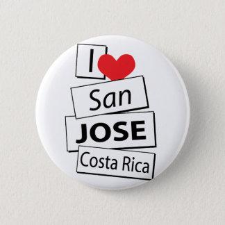 I Liebe San Jose Costa Rica Runder Button 5,1 Cm