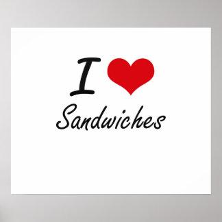 I Liebe-Sandwiche Poster