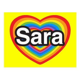 I Liebe Sara. Liebe I Sie Sara. Herz Postkarte