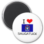 I Liebe Saugatuck Michigan Kühlschrankmagnete