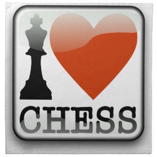 I Liebe-Schach-Zeichen Stoffserviette