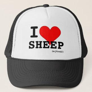 I Love Sheep (as friends) Big Red Heart