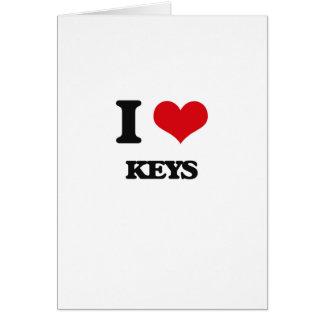 I Liebe-Schlüssel Grußkarte