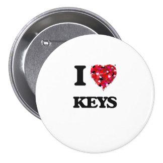 I Liebe-Schlüssel Runder Button 7,6 Cm