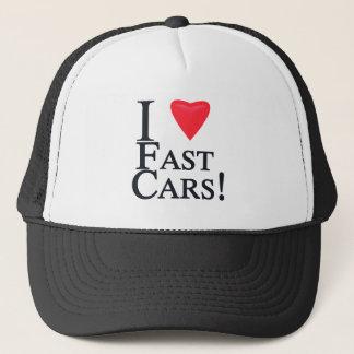 I Liebe-schnelle Autos! Truckerkappe