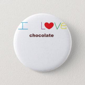 I Liebe-Schokolade durch Sd Runder Button 5,7 Cm