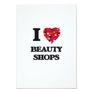 I Liebe-Schönheits-Geschäfte 12,7 X 17,8 Cm Einladungskarte