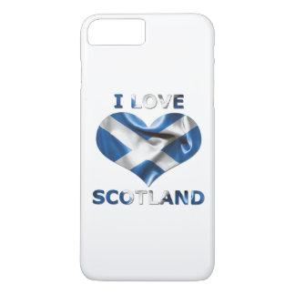 I Liebe-Schottland-Herz-Flagge iPhone 8 Plus/7 Plus Hülle