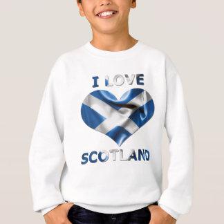 I Liebe-Schottland-Herz-Flagge Sweatshirt
