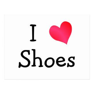 I Liebe-Schuhe Postkarte