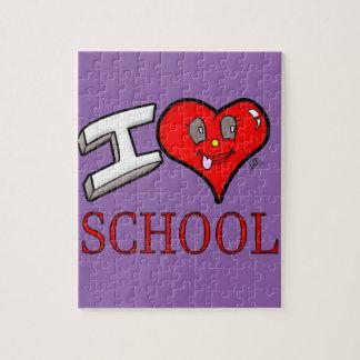 I Liebe-Schulentwurf für Anfänger und Erzieher Puzzle