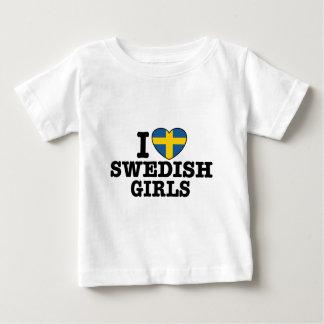 I Liebe-Schwede-Mädchen Baby T-shirt