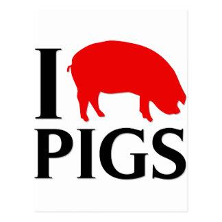 I Liebe-Schweine Postkarte