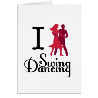 I Liebe-Schwingen-Tanzen Karte