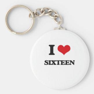 I Liebe sechzehn Schlüsselanhänger