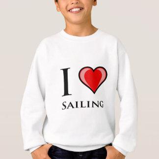 I Liebe-Segeln Sweatshirt