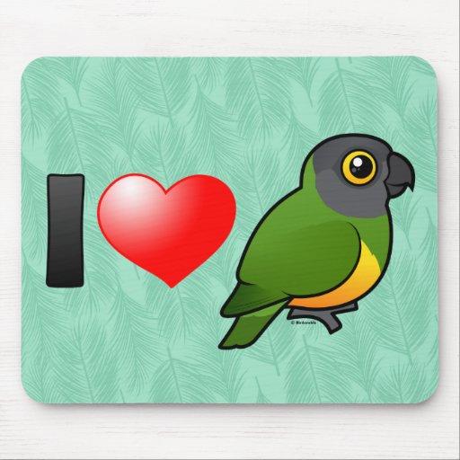 I Liebe-Senegal-Papageien Mauspad