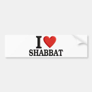 I Liebe Shabbat Autoaufkleber