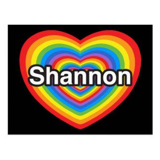 I Liebe Shannon. Liebe I Sie Shannon. Herz Postkarte