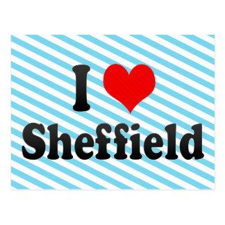 I Liebe Sheffield, Vereinigtes Königreich Postkarte