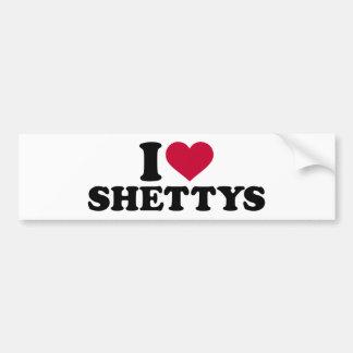 I Liebe Shettys Autoaufkleber