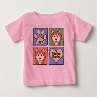 I Liebe-Sibirier-Huskies Baby T-shirt