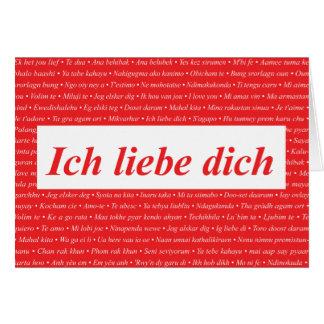 I Liebe Sie (Deutscher) kundengerecht karten