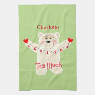 I Liebe Sie dieser viel niedliche Teddy-Bär Küchentuch