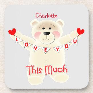 I Liebe Sie dieser viel niedliche Teddy-Bär Untersetzer