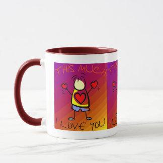 I Liebe Sie dieses viele (4) Tasse