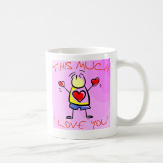 I Liebe Sie dieses viele v2 Kaffeetasse