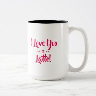 I Liebe Sie eine Kaffee-Tasse Latte Valentines Zweifarbige Tasse