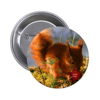 I Liebe Sie Erdbeere Runder Button 5,1 Cm