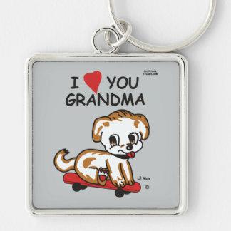 I Liebe Sie Großmutter Lil maximales Keychain Schlüsselanhänger