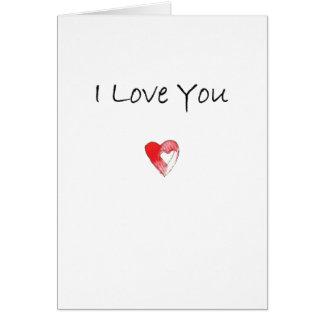 I Liebe Sie Herz Karte