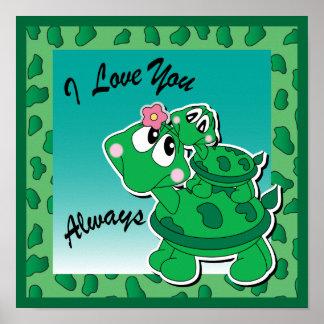 I Liebe Sie immer - Momma u. Baby-Schildkröten Poster