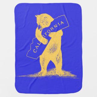 I Liebe Sie Kalifornien--Blau und Gold Puckdecke