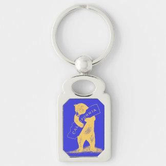I Liebe Sie Kalifornien--Blau und Gold Schlüsselanhänger