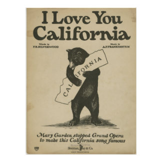 I Liebe Sie Kalifornien-Plakat Poster