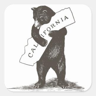 I Liebe Sie Kalifornien Quadratischer Aufkleber