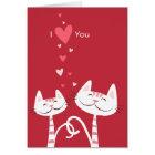 I Liebe Sie KatzenValentine Karte