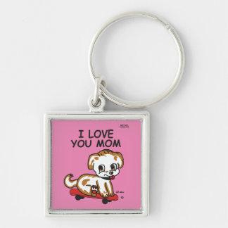 I Liebe Sie Mamma Lil maximales Keychain Schlüsselanhänger