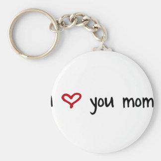 I Liebe Sie, Mamma Standard Runder Schlüsselanhänger