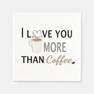 I Liebe Sie mehr als Kaffee Papierserviette