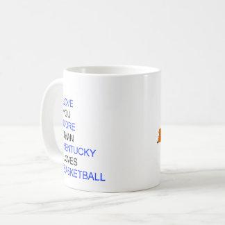 I Liebe Sie mehr als Kentucky-Liebe-Basketball Kaffeetasse