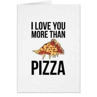 I Liebe Sie mehr als Pizza Karte