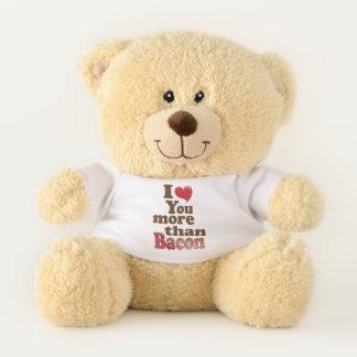 I Liebe Sie mehr als Speck Teddybär