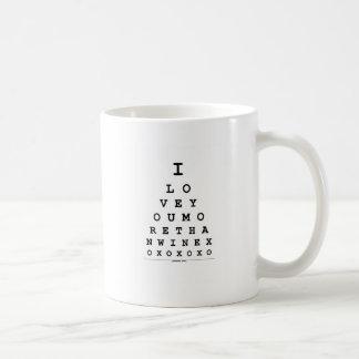 I Liebe Sie mehr als Wein Kaffeetasse