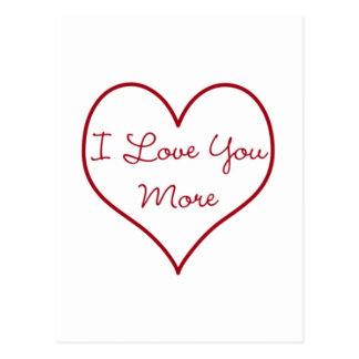 I Liebe Sie mehr Postkarte